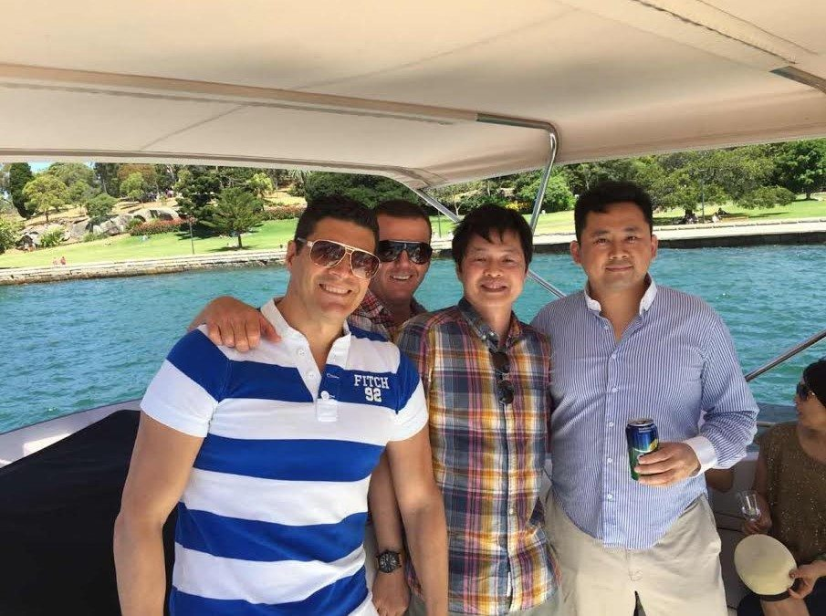Sumo SIV's boat cruise on Sydney Harbour. 29 November 2014
