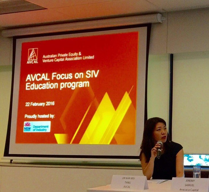 AVCAL Focus on SIV. Sydney. 22 February 2016